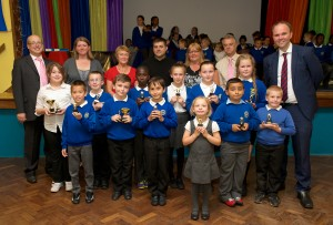 All the Award winners, with the Foundation Trustees, Awards Sponsor (Gareth Burchell) and Gavin Barwell MP